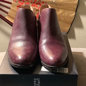 Naturalizer aubergine (purple) booties.